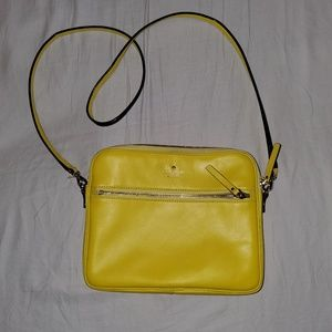 Kate Spade Yellow Leather Crossbody bag